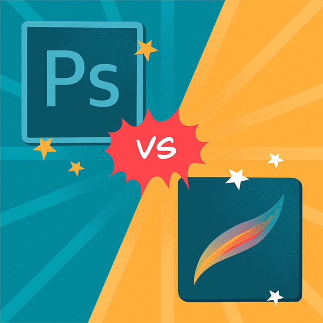Photoshop vs Procreate - comparison