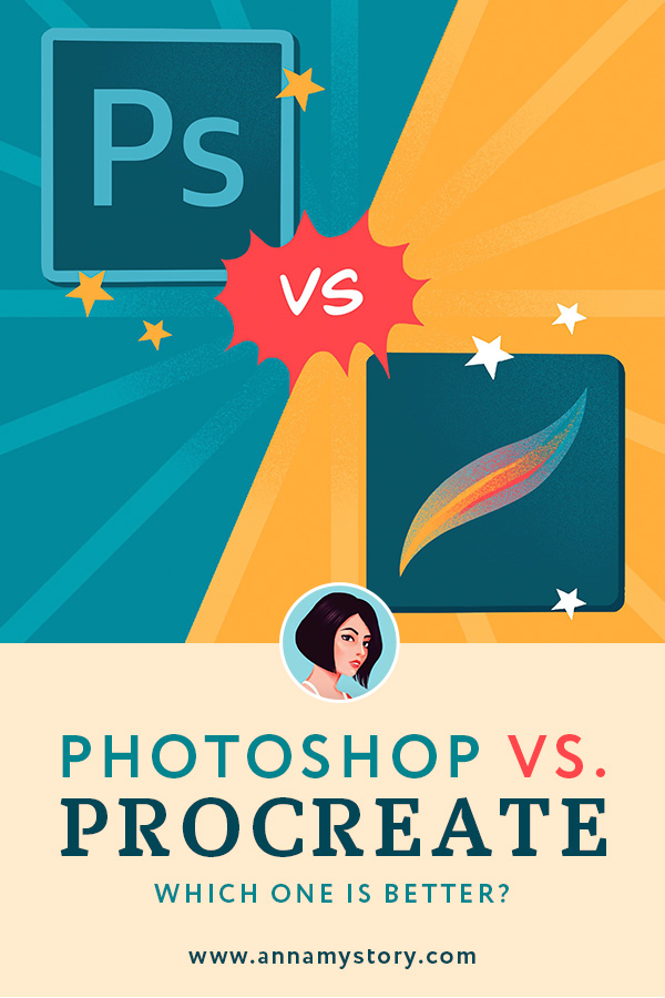 Photoshop vs procreate comparison