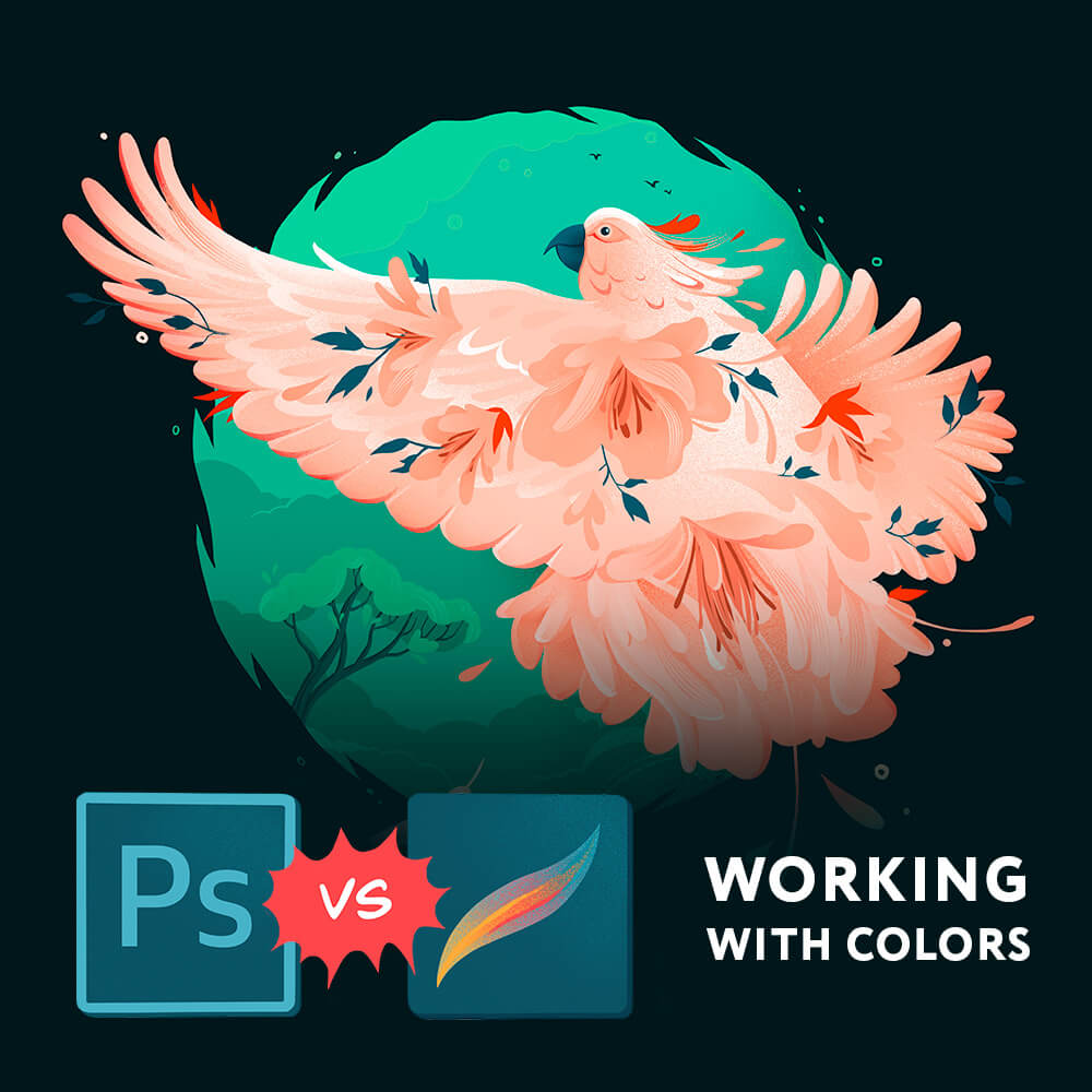 Colors management in Procreate vs photoshop
