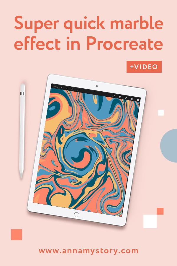 Procreate tutorial - How to create marble effect