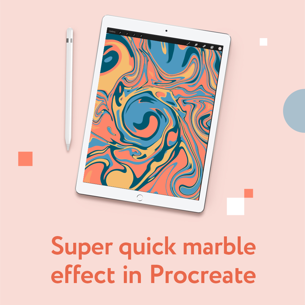 How to make Marble Effect in Procreate