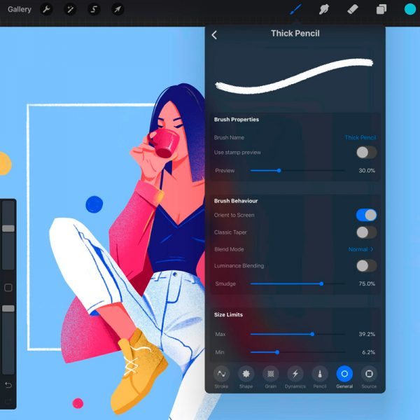 Procreate Drawing App - pros and cons