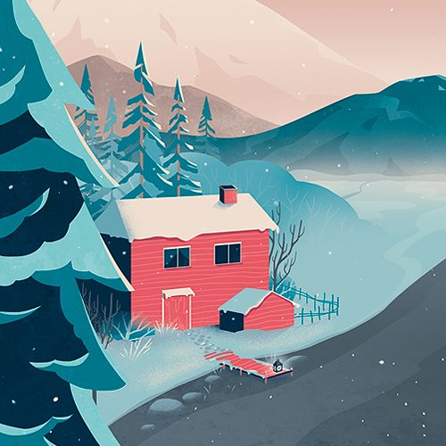 Finland poster illustration